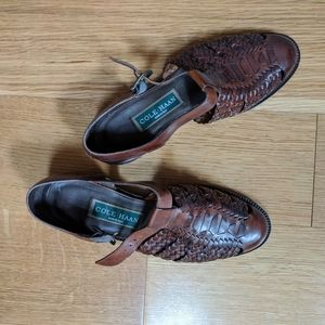 Vintage Cole haan woven leather shoes